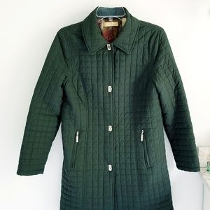 Kate Hill olive green quilted coat fully lined